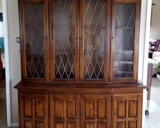 "Ethan Allen Classic Manor China Cabinet - 66.0"" W x 79.5"" H x 18.0"" D - $950 can be sold in advance of sale"