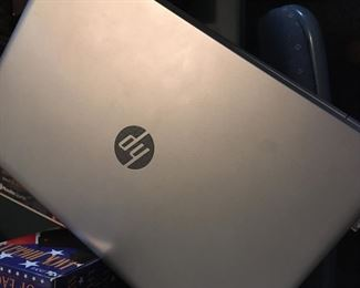 HP 17 inch Laptop in great working condition with rolling case and accessories.