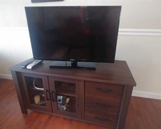 TV Stand and flat screen TV