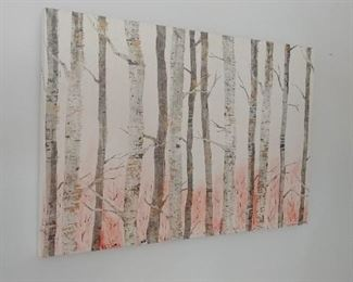 Contemporary birch trees