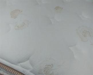 Like new Queen Serta pillowtop mattress set on the Queen bed
