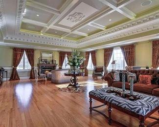 Brown Sofa (Raymond Waites ) $1000  Zebra Coffee table $250