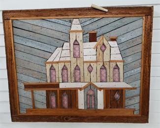 Folk Art Wooden Pitcher