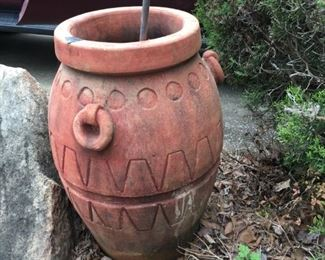 tall terracotta color southwestern pot