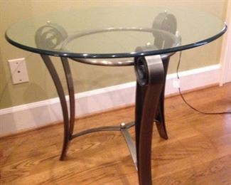 bronze finish  lamp table