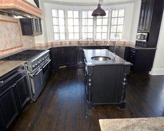 stove  oven  sink  granite