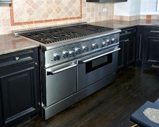 thermador  oven  range stove  stainless steel