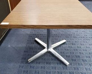 Square Dining Table w/Chrome Base