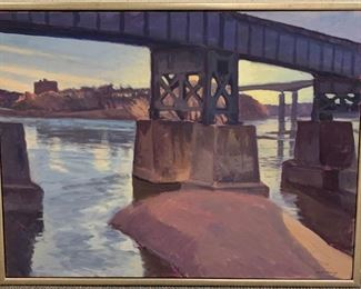 "Brett Busang, ""From Brown's Island"", oil on canvas, painted 1999, purchased 2000, 39 x 27.  http://brettbusang.com/"