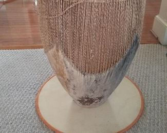 001 African Drum Accent Table