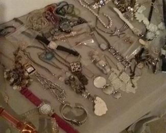 Costume Jewelry Necklaces and Ladies Watches