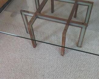 Geometric Glass Top Coffee Table