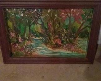 Original Acrylic Painting, Potomac River Islands, by Marie Beyersdorfer