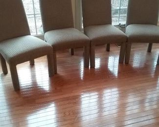Set of Four Upholstered Chairs