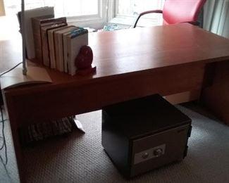 Teak Desk and Side Table