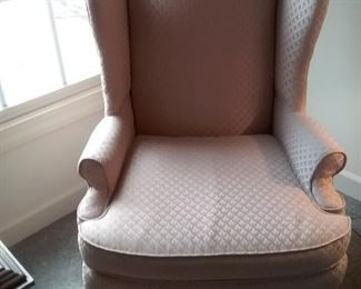 Vintage Wingback Upholstered Chair