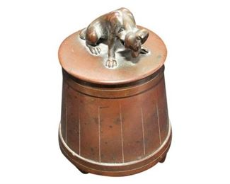 9. Bronze Figure of a Dog