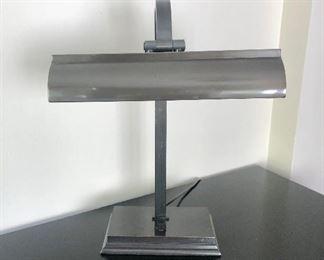 """$75 Bronze tone metal desk lamp 20""""H"""