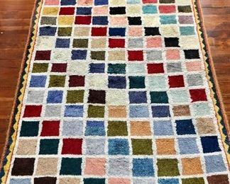 """$350 Multicolored Gabbeh Persian Rug.   56""""L, 38.5""""W"""