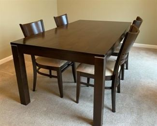 #9Dining table with 4 chairs $75.00