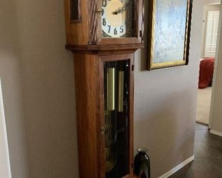 This is a Kimball Grandfather clock!  Would look exceptional in any home!