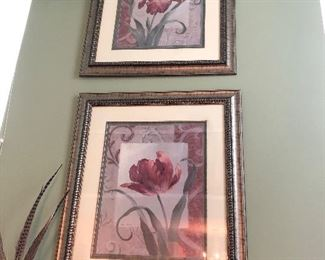 Two Large Beautiful Pictures over the Fireplace. Fabulous Frames too!