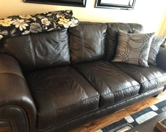 Nice, Brown Leather Sofa