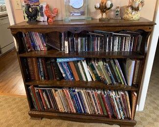 Beautiful wood bookcase, Christian books