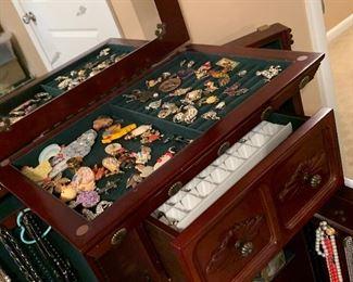 Jewelry armoire, women's jewelry