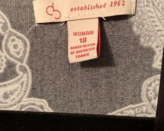 Women's clothing - all is excellent condition - quality!  Sizes range from Medium to 3 XL - Shoe sizes 8 - 8 ½