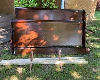 King size beautiful mahogany wood bed frame