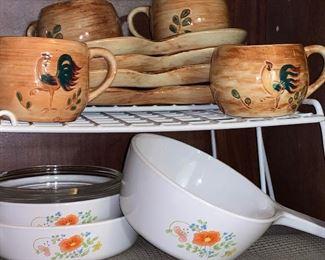 Vintage corning Ware, pyrex