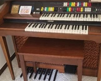 $245. #109. Lowery Organ. Excellent Condition. Bench included. Music and lamp not included.
