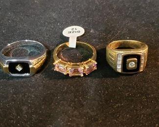 3 mens rings