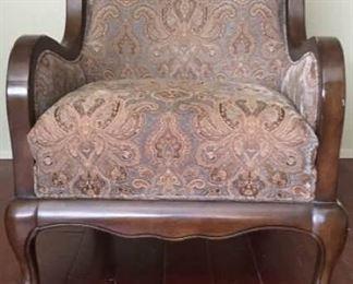 Paisley Print Arm Chair