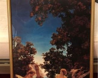 Maxfield Parrish Gold Framed Picture