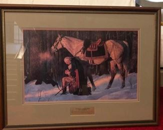 """The Prayer at Valley Forge"" Print by Arnold Friberg"