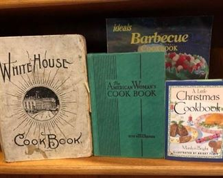 Early 1900's White  House Cookbook & The American Woman's Cook Book
