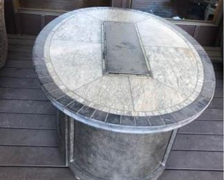 Propane Outdoor Table with Glass Rocks