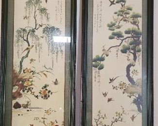 $45 - Item #3: Pair of Asian inspired framed art prints.