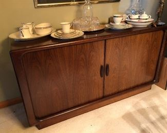 "Dyrlund Rosewood Sideboard w/ Tambour Doors 59""W x 31""H x 19""D Buy it Now $725"