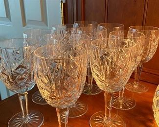 "Waterford Glengariff crystal 7"" goblets 11 total at $28ea"