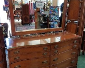 Mahogany Dresser & Mirror, now $175