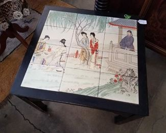Hand Painted Tile Table, now $30