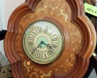 Marquetry Wall Clock $225