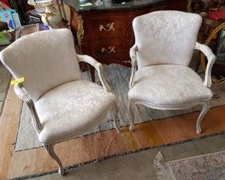 Pair French Provincial Chairs $87.50