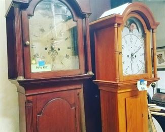 Grandfather Clocks: Clock on Left is now $500, Clock on Right is now $300