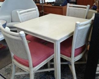 McGuire Game Table & 4 Chairs – discounted price now $197.50 ***Please note:  California sales tax will be charged on all purchases unless you have a valid California resale certificate on file with us.***
