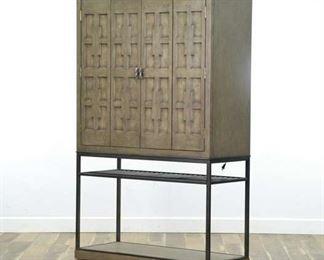 Century Casa Bella Burl Bar Timber Gray Bar Cabinet