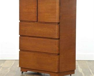 Morris Art Deco Tall Wardrobe Dresser